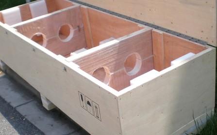 挖孔红板组合出口木箱